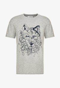Pier One - T-Shirt print - mottled grey - 4
