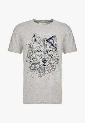 T-shirt con stampa - mottled grey
