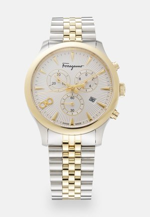 UNISEX - Chronografické hodinky - silver-coloured/gold-coloured