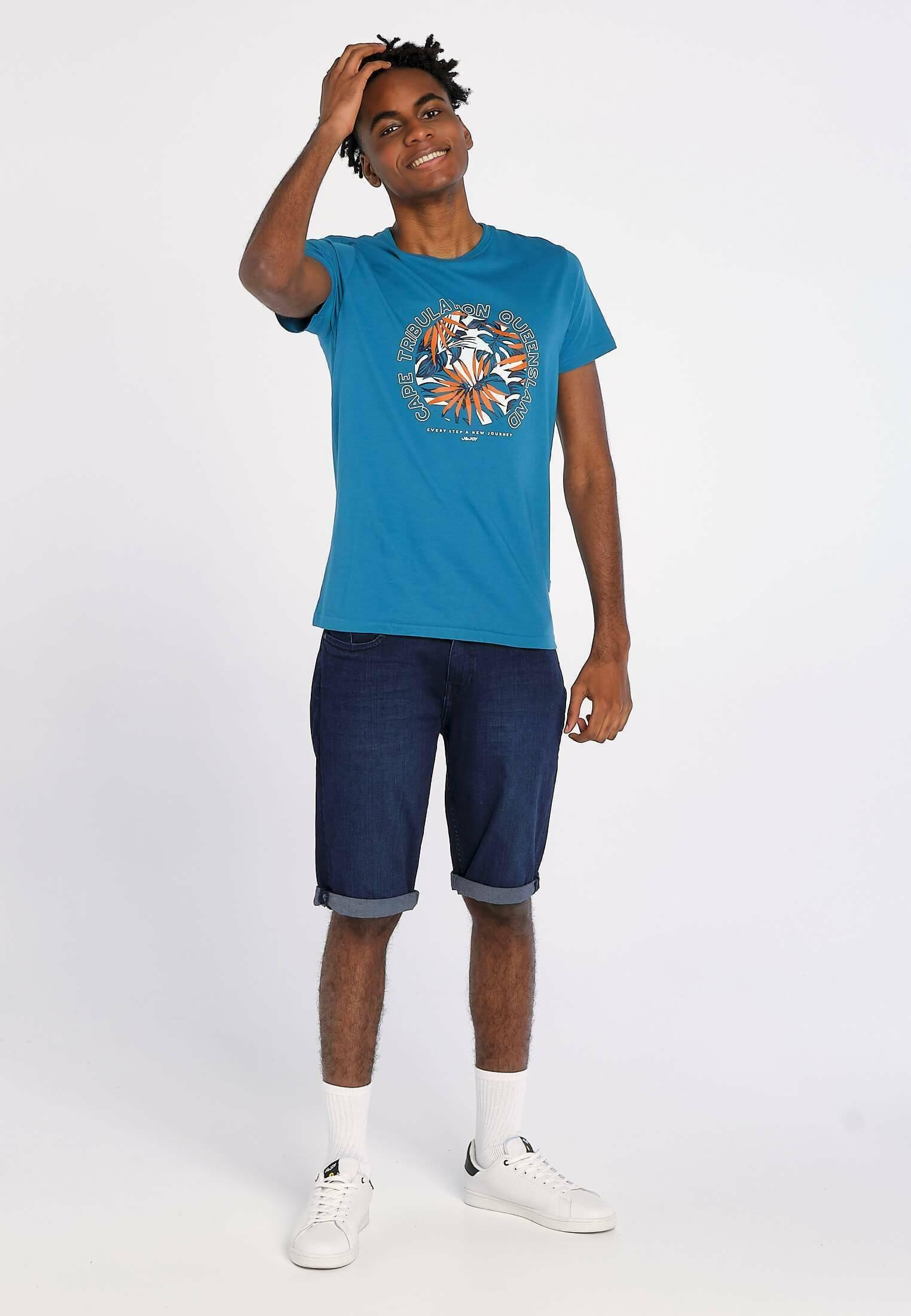 Homme CAPE TRIBULATION BLUE TIDE - T-shirt imprimé