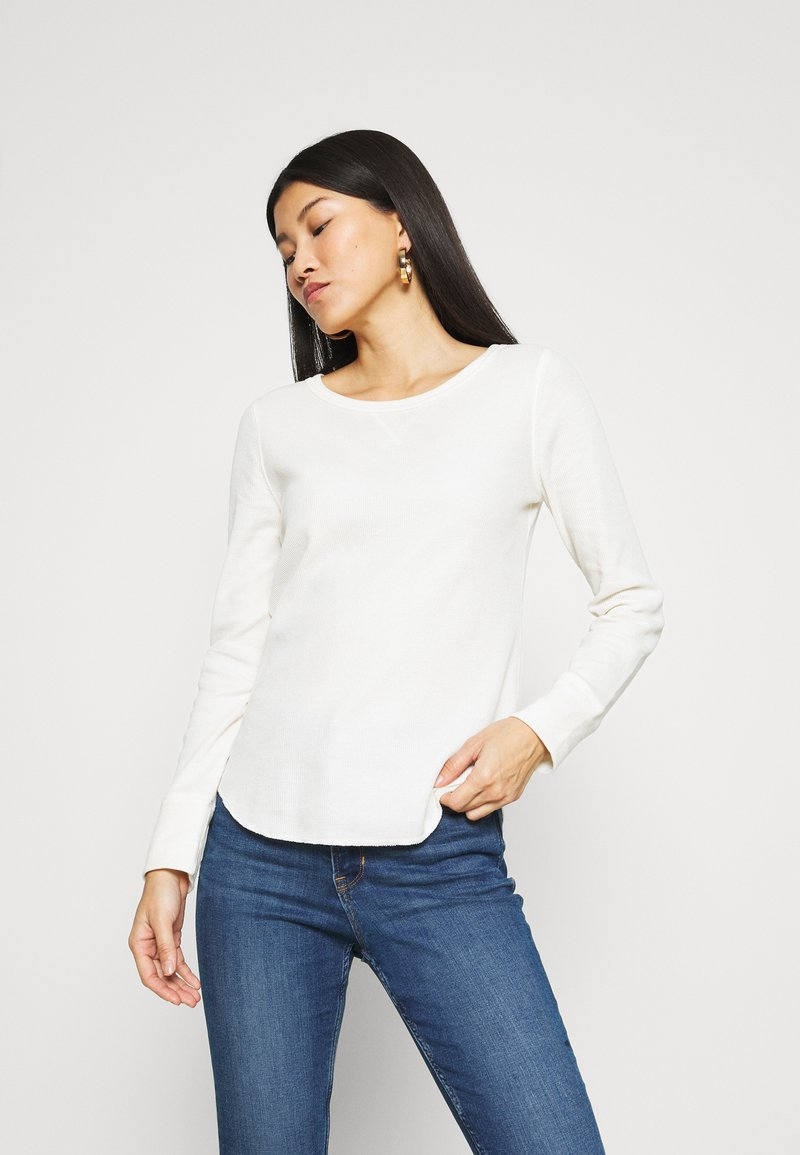 GAP - WAFFLE - Long sleeved top - ivory frost