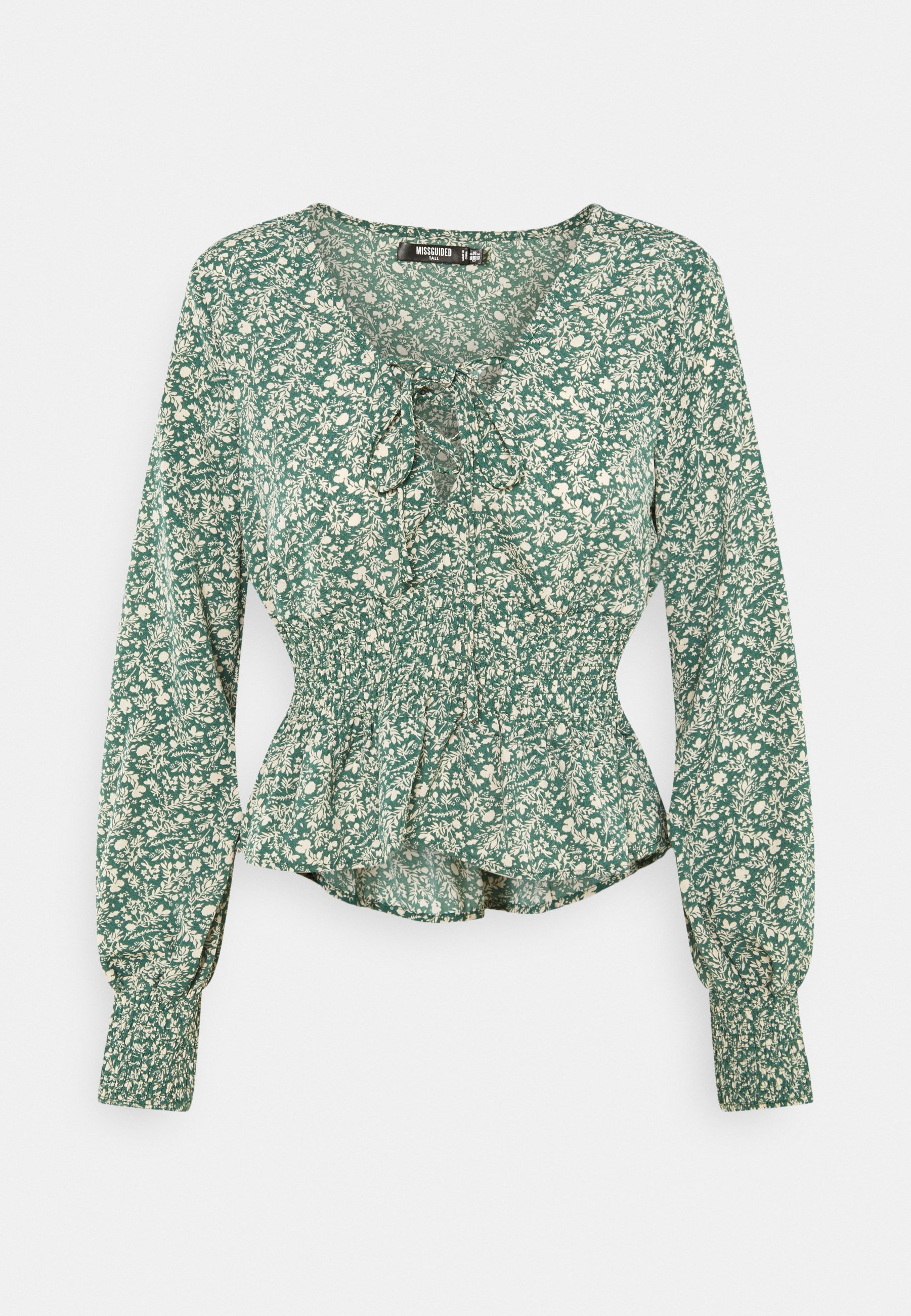 Women TIE FRONT BLOUSE - Long sleeved top