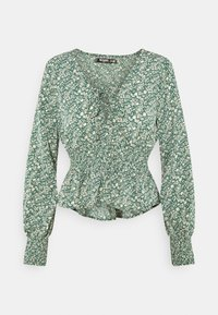 Missguided Tall - TIE FRONT BLOUSE - Topper langermet - green - 0