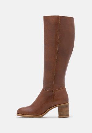 LEATHER  - Boots - cognac