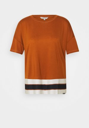 WITH RIBHEM - T-shirt con stampa - baked ginger orange