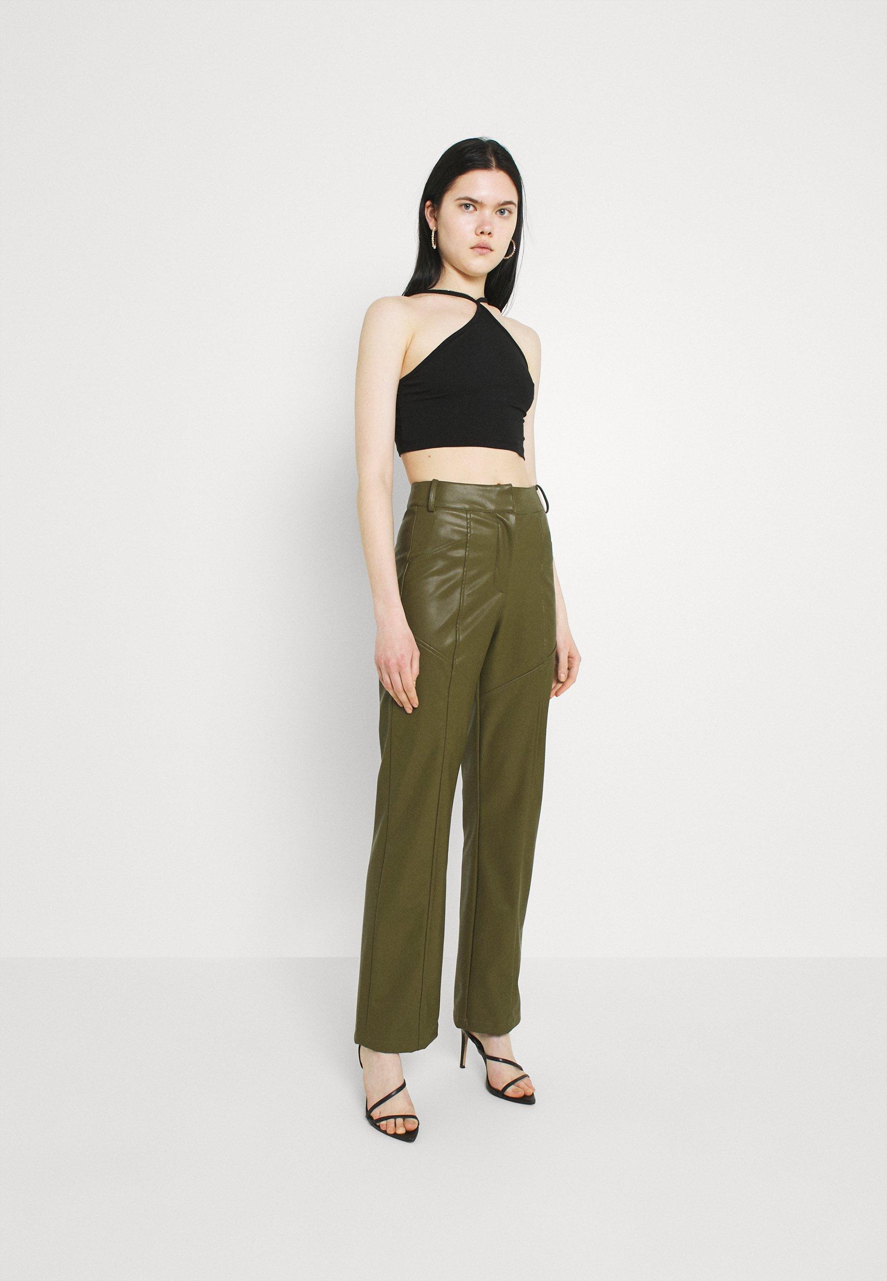 Women ONE SHOULDER CROP 2 PACK - Long sleeved top
