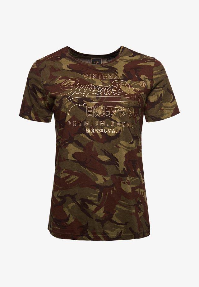 Camiseta estampada - true camo aop
