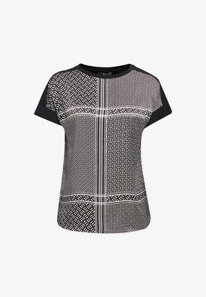 BLUSENTOP AUS MATERIAL-MIX - Print T-shirt - black