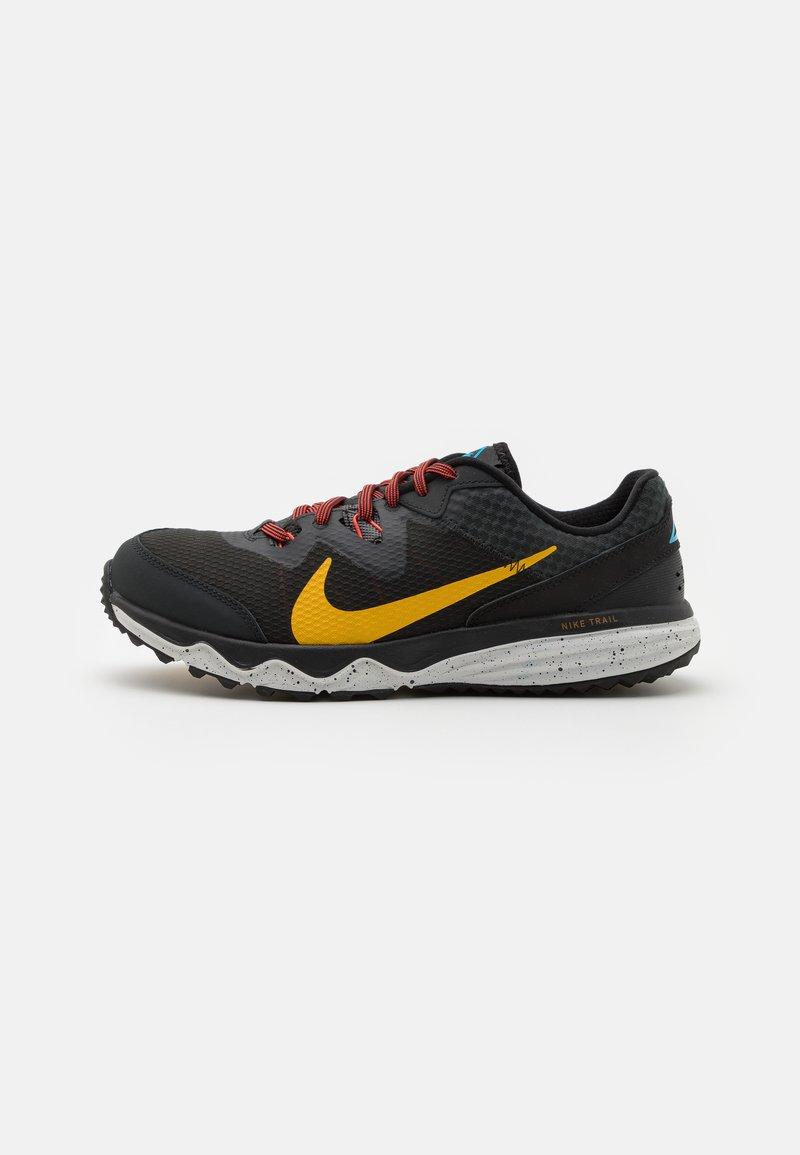 Nike Performance - JUNIPER - Trail running shoes - off noir/dark sulfur/black/pure platinum/chile red/laser blue