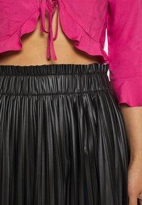 ONLY - ONLMIE MIDI PLEAT SKIRT - A-line skirt - black - 5