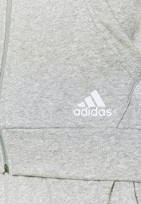 adidas Performance - Zip-up sweatshirt - mottled grey/white - 6
