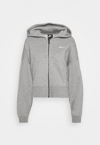 Nike Sportswear - TREND - Zip-up hoodie - dark grey heather/white - 4