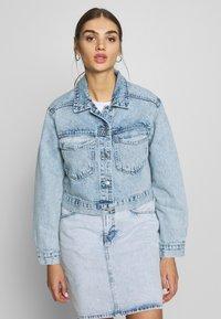 Gina Tricot - TRUCKER JACKET - Denim jacket - lt blue snow - 0
