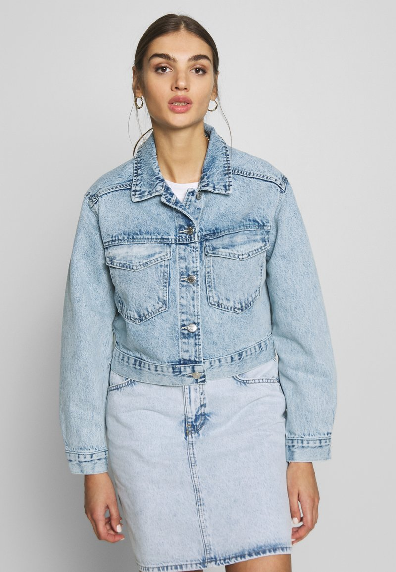 Gina Tricot - TRUCKER JACKET - Denim jacket - lt blue snow