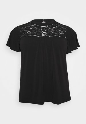 VMALBERTA HIGH NECK  - T-shirts med print - black