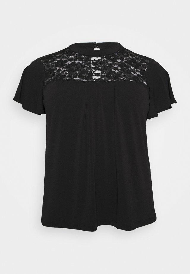 VMALBERTA HIGH NECK  - T-shirt med print - black