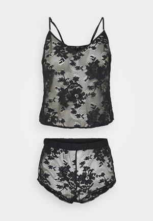 DARK HOURS CAMI SET - Pyjama - black
