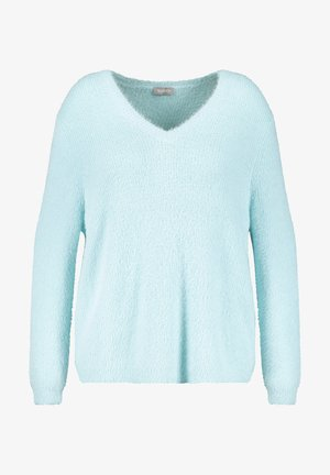 LANGARM - Fleece trui - crystal blue