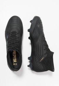 adidas Performance - PREDATOR 19.2 FG - Fodboldstøvler m/ faste knobber - core black/utility black - 1