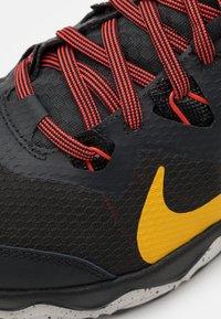 Nike Performance - JUNIPER - Trail running shoes - off noir/dark sulfur/black/pure platinum/chile red/laser blue - 5