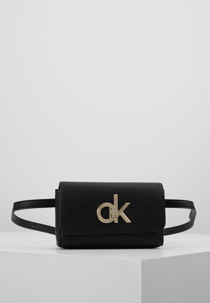 Calvin Klein - RE LOCK WAISTBAG - Saszetka nerka - black