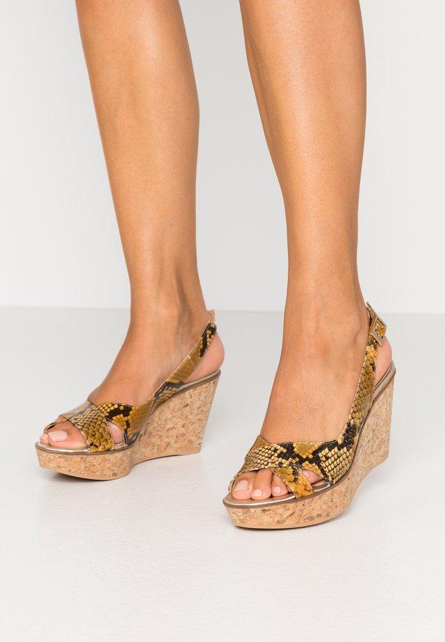Sandály na vysokém podpatku - plationo