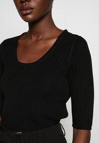 Selected Femme - SLFMARGE DEEP O-NECK - Cardigan - black - 5