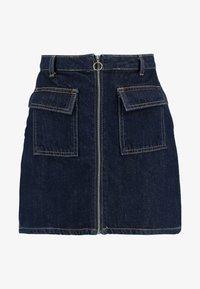 Miss Selfridge - ZIP THROUGH SKIRT - A-line skirt - blue denim - 4