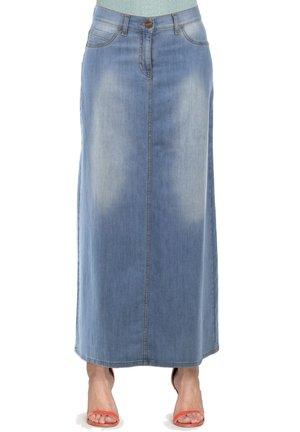 Gonna lunga - lavaggio blu chiaro (super stone wash)