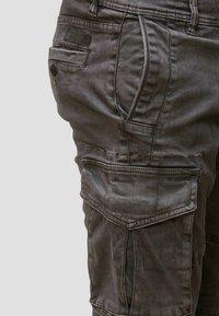 INDICODE JEANS - ALEX - Pantaloni cargo - dark grey - 3