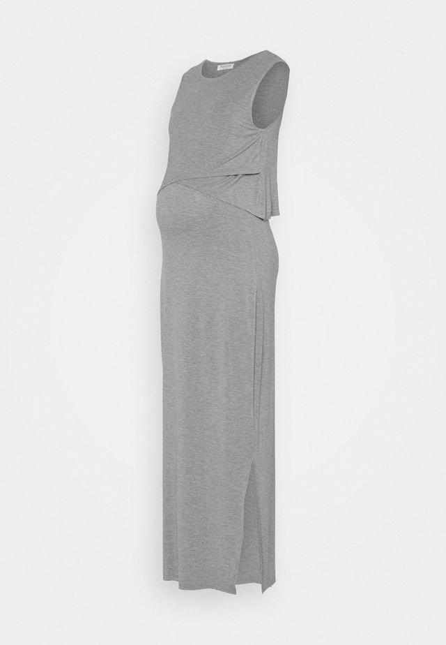 NURSING DRESS - Vestito lungo - grey marl