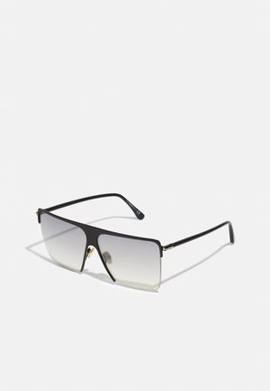 UNISEX - Sunglasses - shiny black/smoke mirror