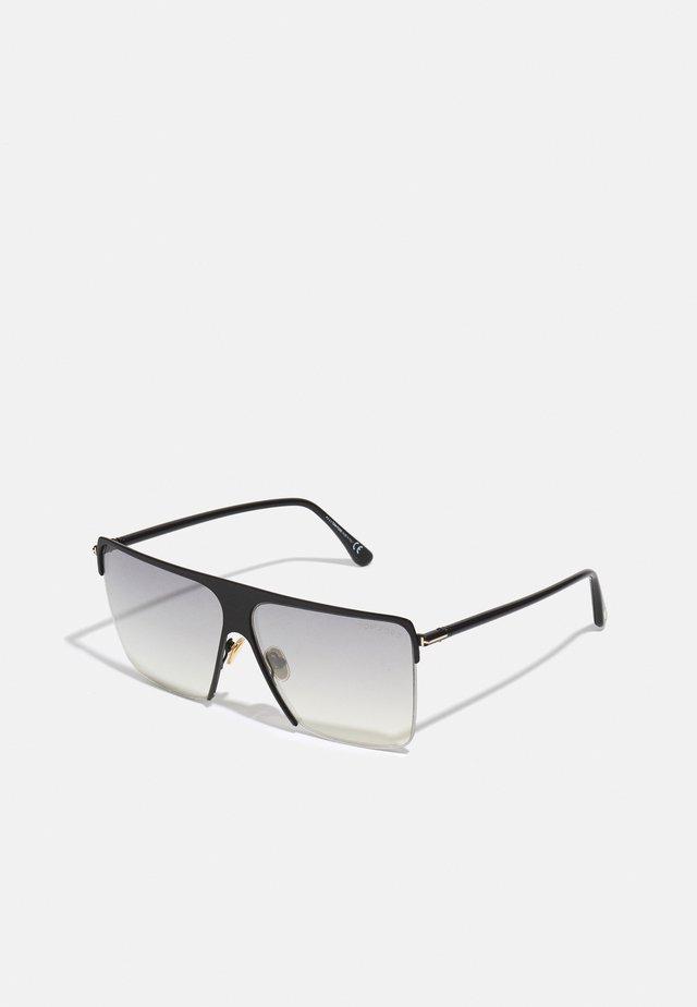 UNISEX - Occhiali da sole - shiny black/smoke mirror