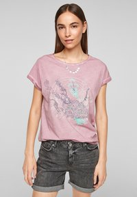 QS by s.Oliver - Print T-shirt - pink placed print - 0