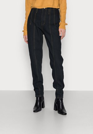 SEAM DETAIL MOM - Jean droit - black