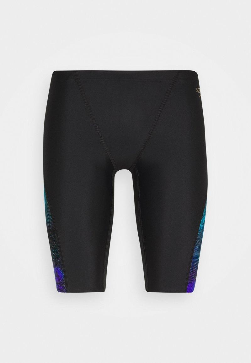 Speedo - ALLOVER  CUT JAMMER - Swimming trunks - black/violet/pool