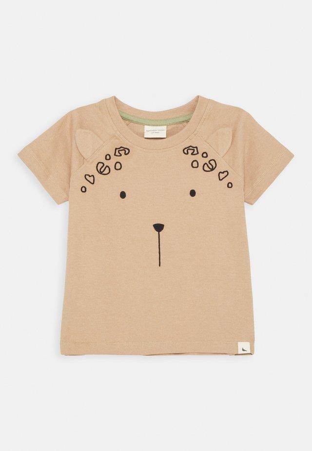 LEOPARD EAR UNISEX - T-shirt print - bark