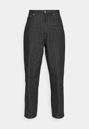 PIN STRIPE TROUSERS - Trousers - black/white