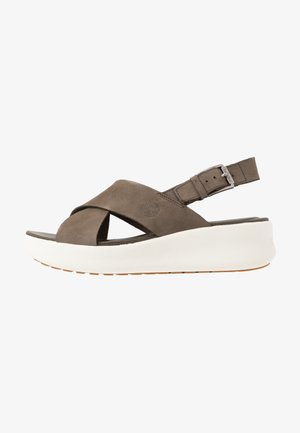 LOS ANGELES WIND SLINGBAC - Platform sandals - olive