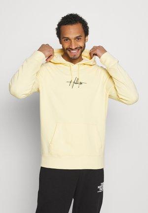 FLORAL SCRIPT UNISEX - Sweatshirt - yellow