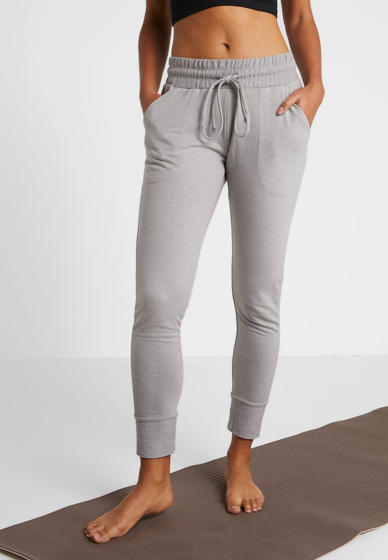 Free People - SUNNY SKINNY - Tracksuit bottoms - grey combo