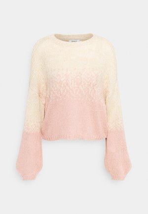 ONLKUNA  - Pullover - pumice stone/misty rose
