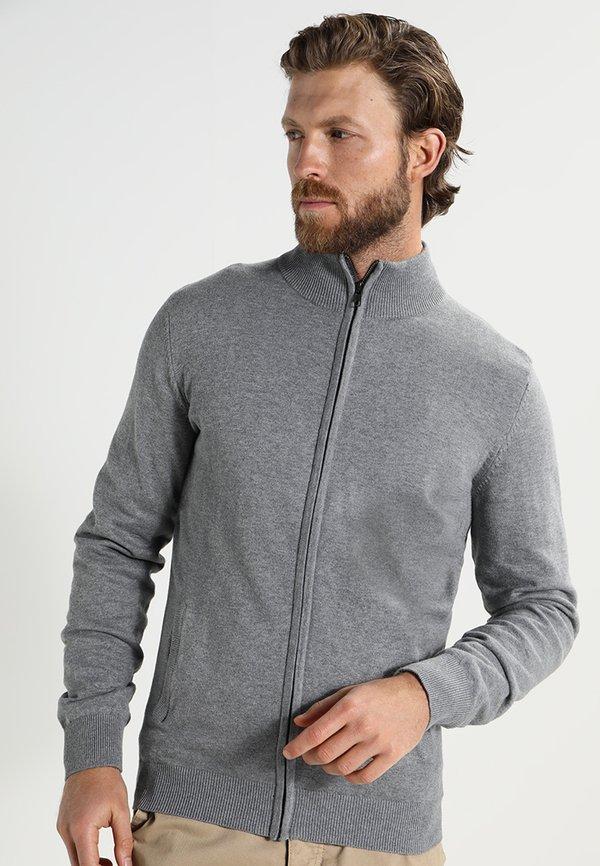 Pier One Kardigan - grey/szary melanż Odzież Męska JIFF