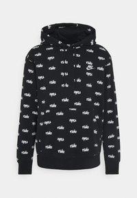 Nike Sportswear - CLUB HOODIE SCRIPT - Sweat à capuche - black/white - 4