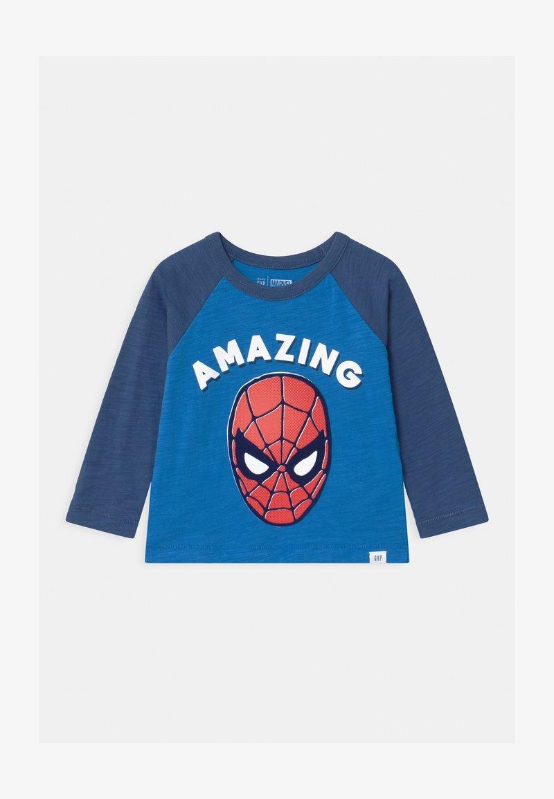 GAP - TODDLER BOY SPIDERMAN - Long sleeved top - breezy blue