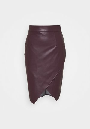 SLIT SKIRT - Pouzdrová sukně - violet swan