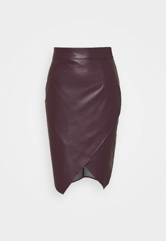 SLIT SKIRT - Pencil skirt - violet swan