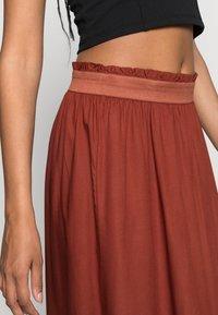 ONLY - Falda plisada - henna - 5