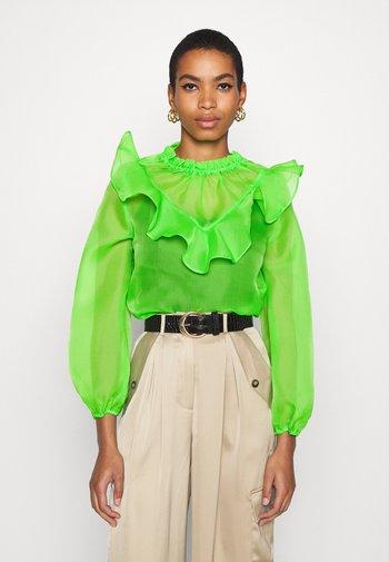 RUFFLE YOKE - Blus - jasmine green