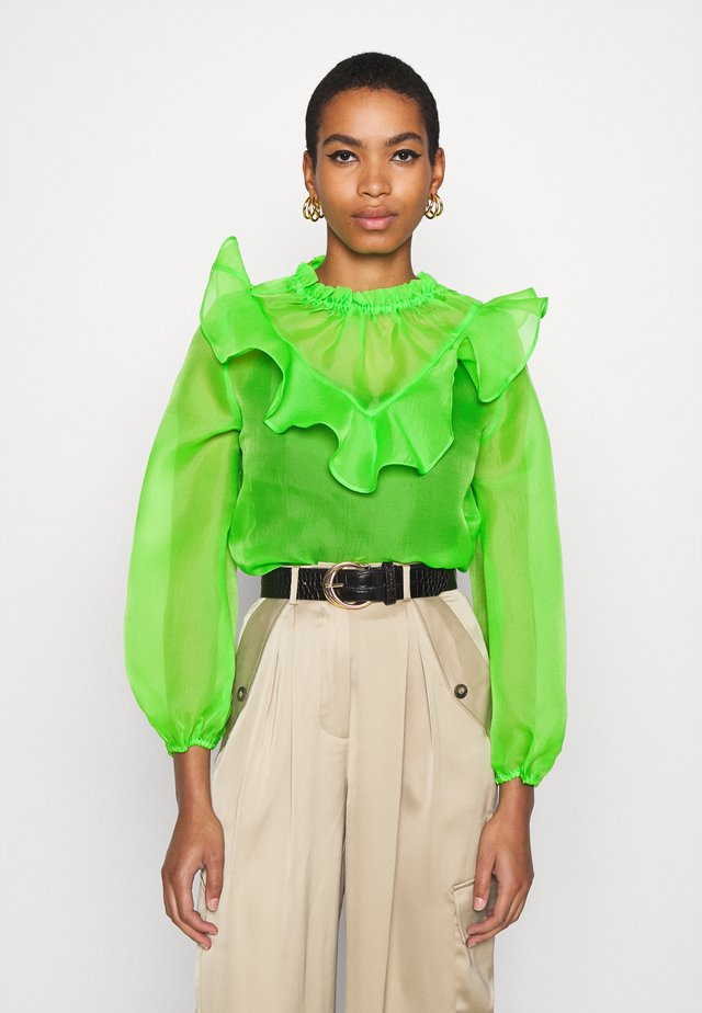 RUFFLE YOKE - Blouse - jasmine green